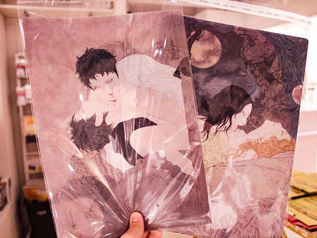 Takato Yamamoto Vampire clearfiles from the NOSFERATU exhibition in Shibuya Tower Records