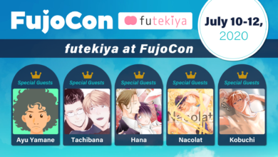 Photo of The futekiya Team and Creators will be at FujoCon this weekend!