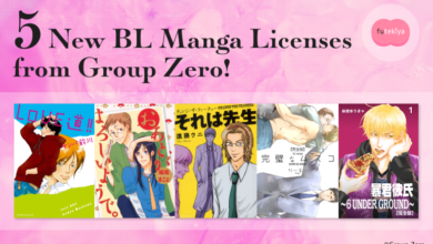 Photo of futekiya Licenses Five Boys' Love (BL) Manga Titles from Group Zero