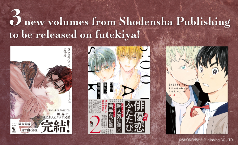 Photo of 3 New Volumes from Shodensha Publishing to be Released on futekiya